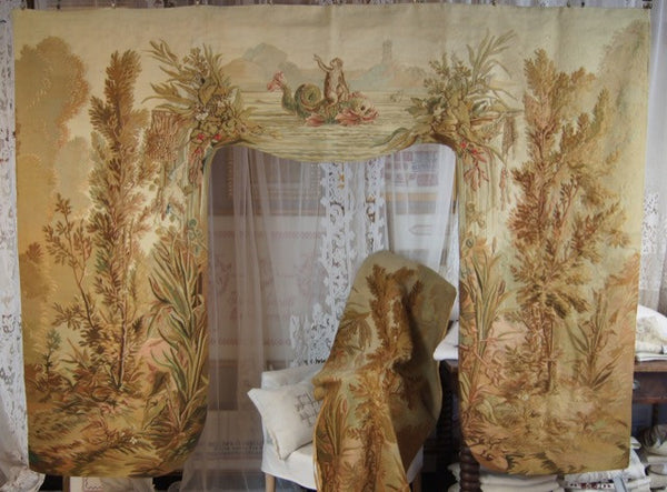 French Aubusson Lambrequins Hanging