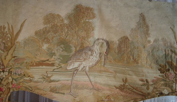 French Aubusson Tapestry Stork