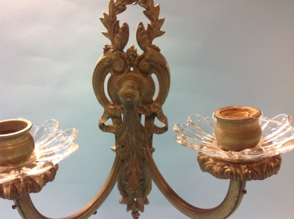Ribbon and Laurel Sconce