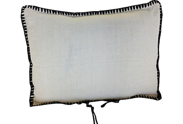 Boiled Wool Hand-Loomed Embroidered Pillow Cover