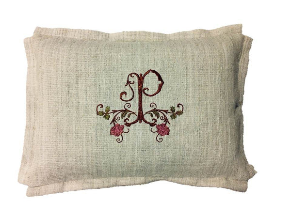 Metallic Copper Monogram Pillow Cover