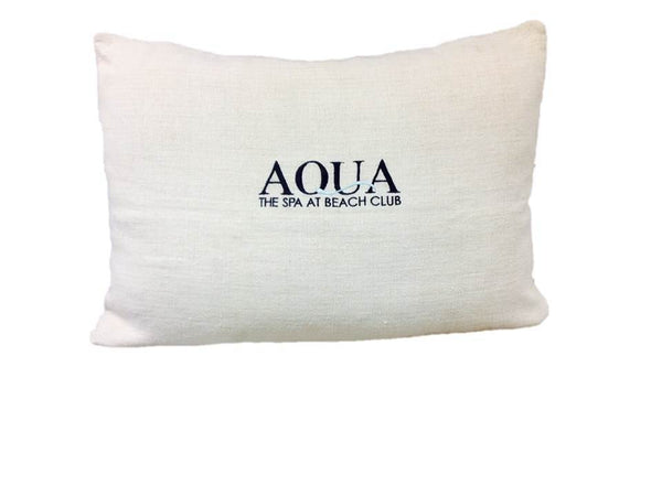 Aqua Spa at Beach Club Pillow Cover