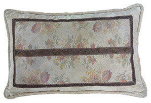 Tapestry Bolster with Bronze Trim