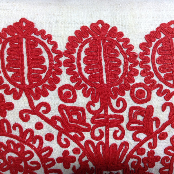 Antique Embroidered Pillow Cover from Hungary