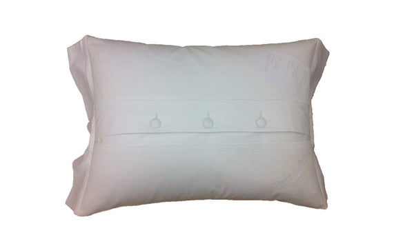 Embroidered Pillow Cover with Royal Blue H