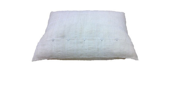 Linen Pillow Cover with Knife Edge and Button Back
