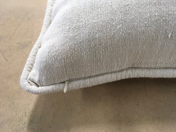 Linen Euroking Pillow with B monogram