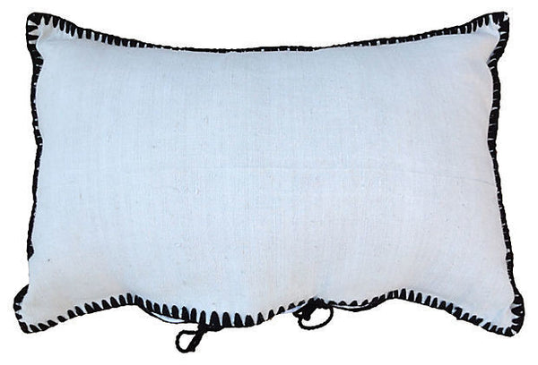 Boiled Wool Embroidered Linen Pillow Cover