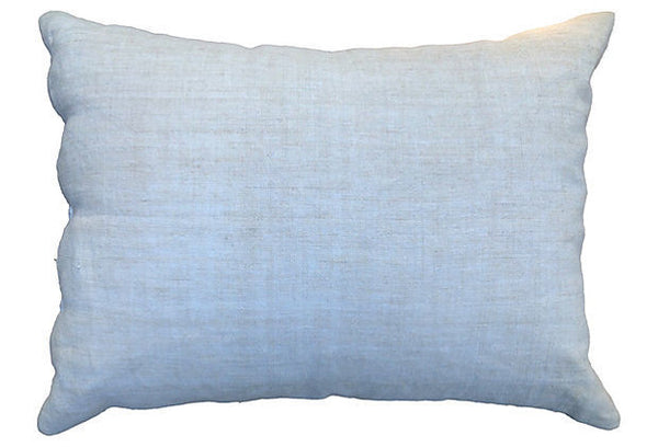 Antique Pillow Cover with Ribbon Embroidery-Motif