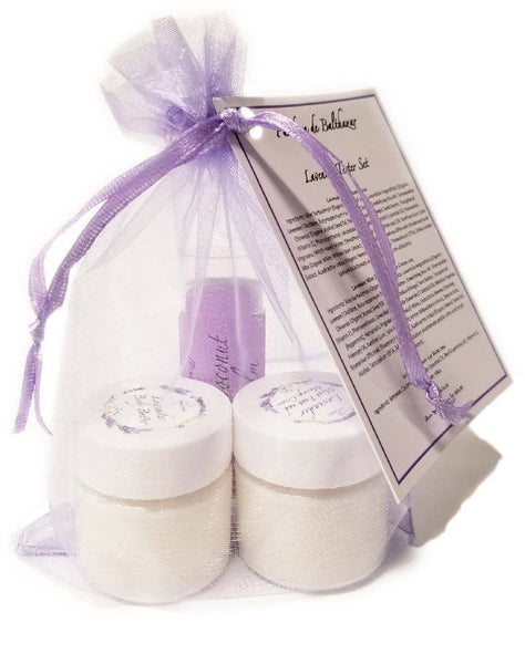Mini Gift Set Lavender Creams and Lip Balm