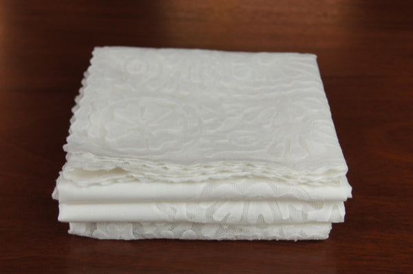Rare White Buzsak Tablecloth Folded