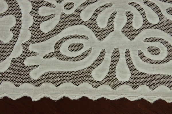 Rare White Buzsak Tablecloth