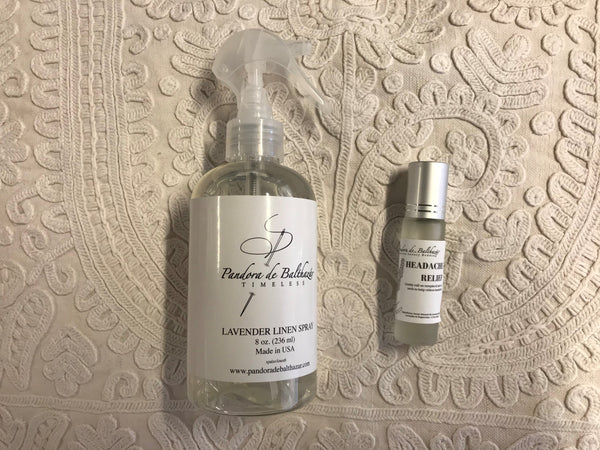 Gift Set Lavender Linen Spray and Headache Relief
