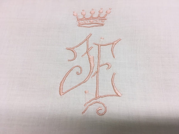 """JE""OR ""FE"" Euro King or Queen Sham Antique"