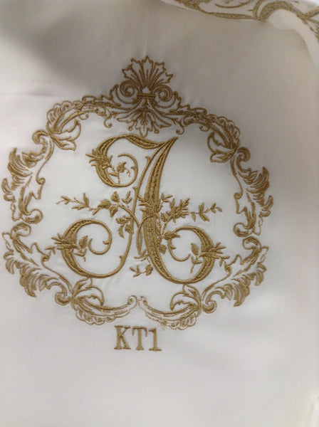 Stacey Style Monogrammed Sheets and Bedcover