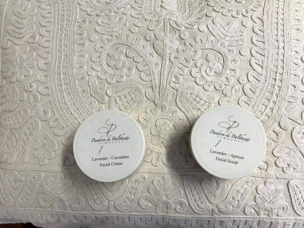 Gift Set Apricot Scrub and Lavender Cucumber facial cream