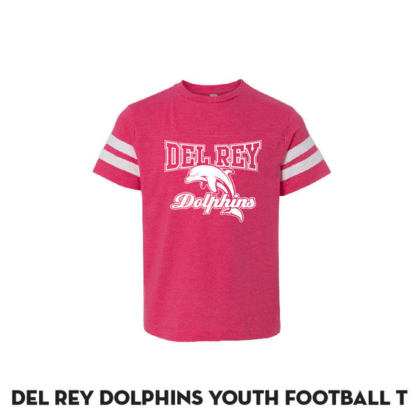 Del Rey Pink Football Jersey T - Youth Only
