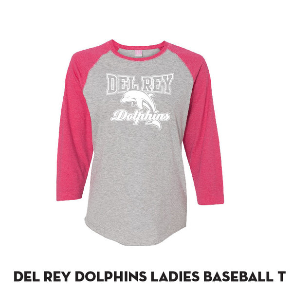 Del Rey LADIES Pink Baseball T