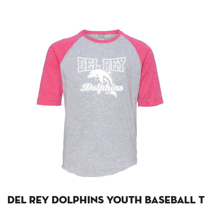 Del Rey Pink Baseball T - YOUTH Only