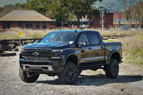 Gallery | 2019 Remington Edition Chevrolet Silverado By: 3C Trucks on 20x10 CANYON (Black Milled)