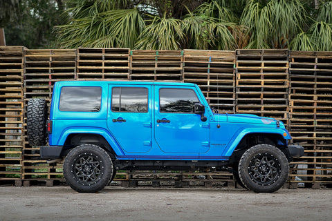 Gallery | Jeep Wrangler on 20x10 CALIBER (Black Milled)
