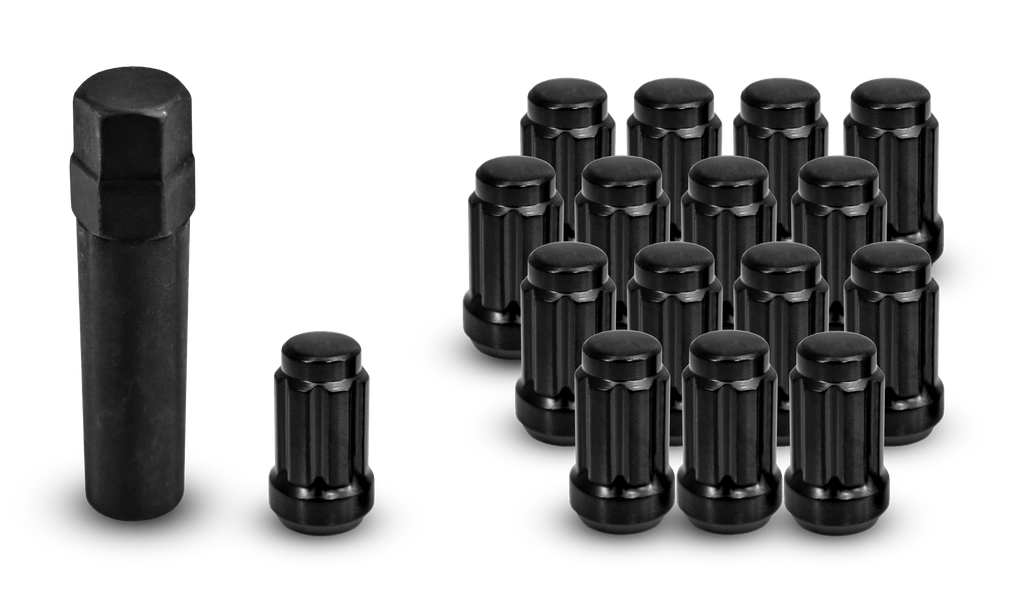 ATV/UTV Small Diameter Spline Lug Nuts Black