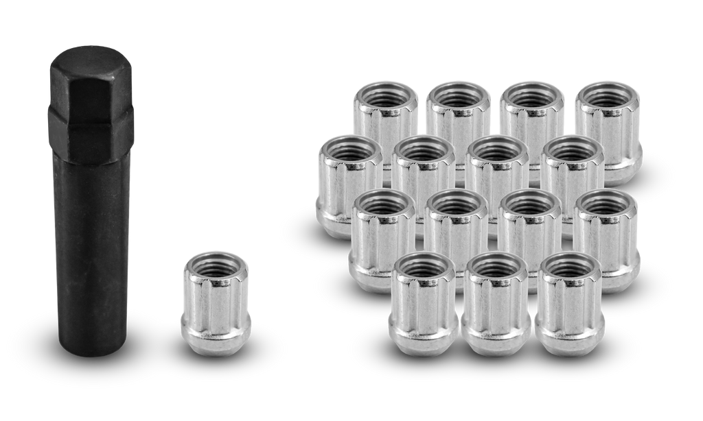 ATV/UTV Small Diameter O/E Spline Lug Nuts Zinc