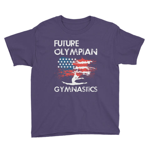 Future Olympian American Gymnastics Youth T-Shirts