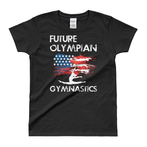 Future Olympian Ladies' T-shirt Online | Gymnastics Shirts Adults and Teens