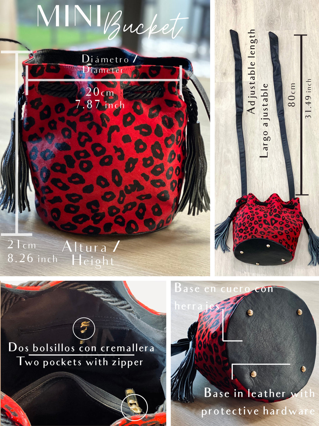 Silvia Cobos Mini Bucket Red and Black Spots