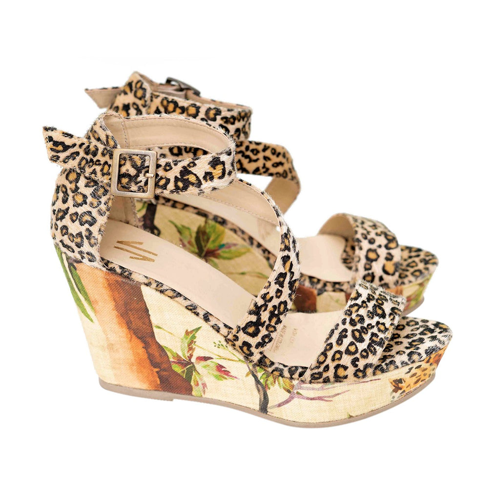Espadrille Wedges Silvia Cobos Tropical Cheetah Print
