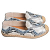 SOFIA LEATHER MOCCASINS SNAKE