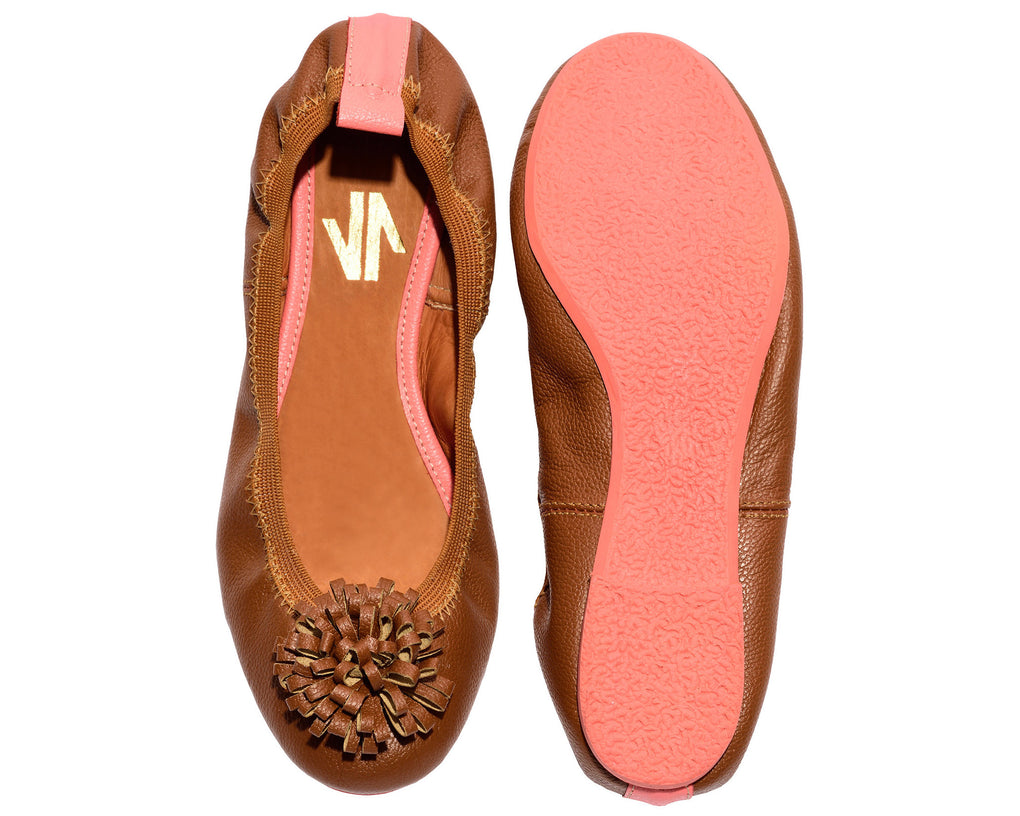 Pom Pom Flats Honey