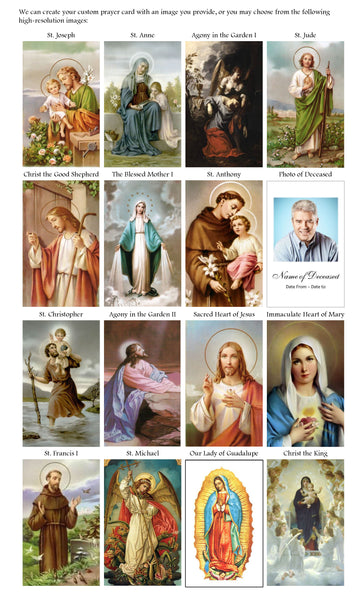 Download or Print our Collection of Suggested Prayer Card Images
