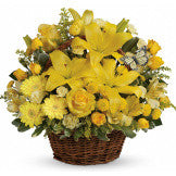 Basket of Yellow Blooms