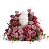 Rose Halo Urn Wreath