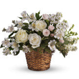 Basket of White Blooms