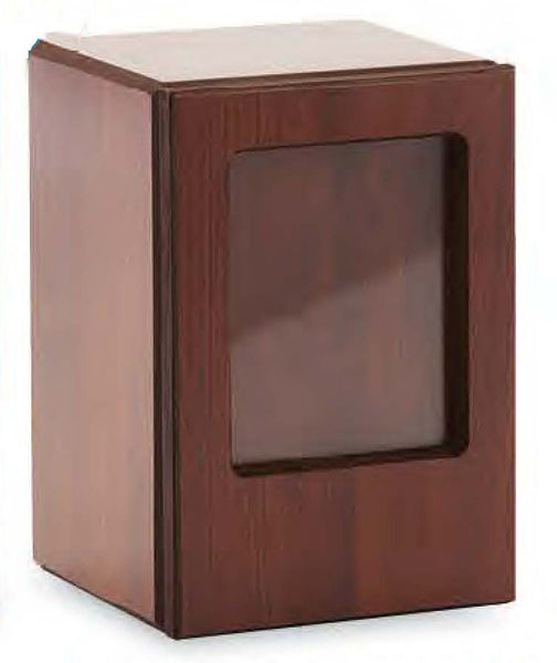 Mahogany Veneer Photo Urn