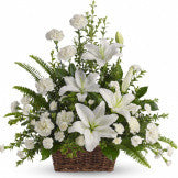 Basket of White Lilies