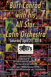Tickets to Burt Conrad with his All Star Latin Orchestra at SOBs Saturday, April 21, 2018