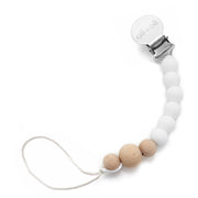Ali+Oli Silicone Pacifier Clip for Baby in Thin White - Liapela.com | Modern Baby Products