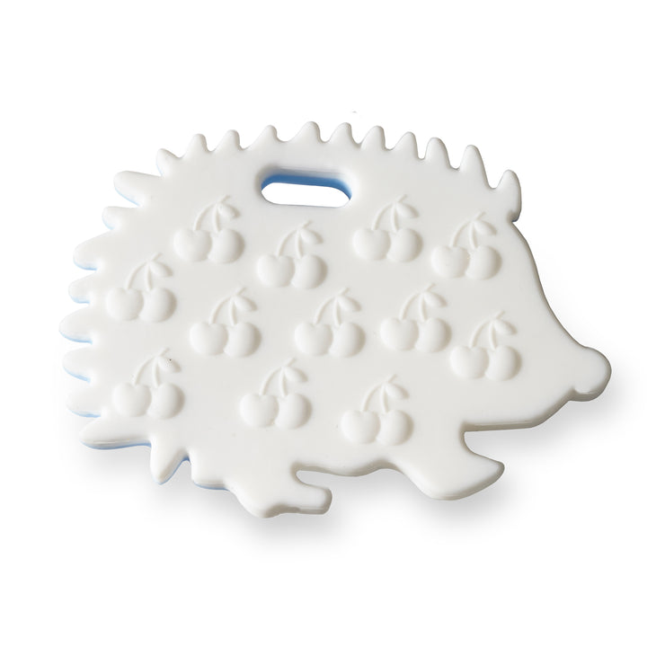 Ali+Oli Hedgehog Food Grade Silicone Teether in Grey - Liapela.com | Modern Baby Products