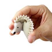 Ali+Oli Hedgehog Food Grade Silicone Teether in Grey