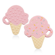 Teether Pink Ice Cream Cone - Liapela.com | Modern Baby Products