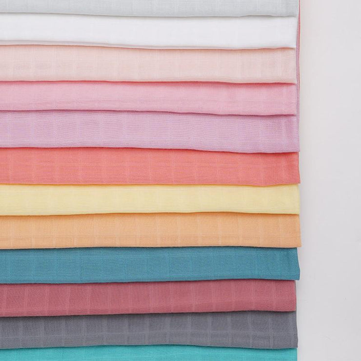 Folded Muslin Swaddle Baby Blanket Extra Soft Bamboo & Cotton