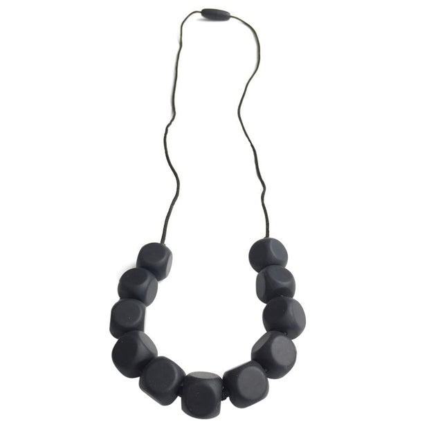 Chloe Silicone Teething Necklace BLack - Liapela.com | Modern Baby Products