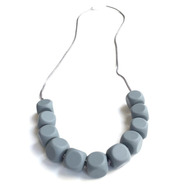 Chloe Silicone Teething Necklace Grey - Liapela.com | Modern Baby Products