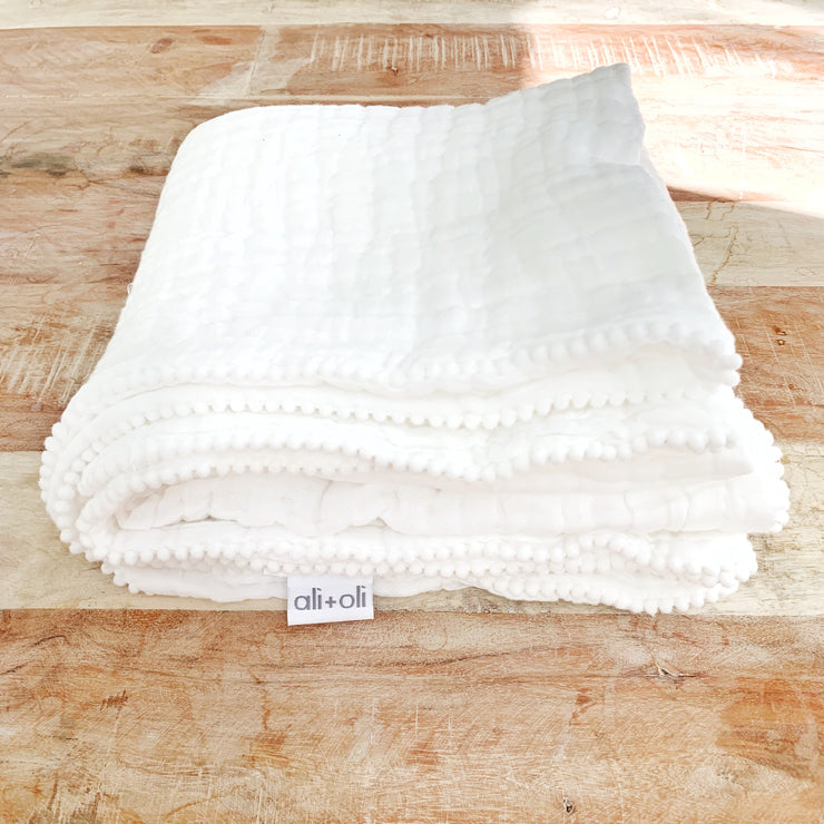 Luxury Muslin Cotton Hooded Baby Towel by Ali + Oli - Liapela.com | Modern Baby Products