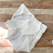 Luxury Muslin Cotton Hooded Baby Towel by Ali + Oli
