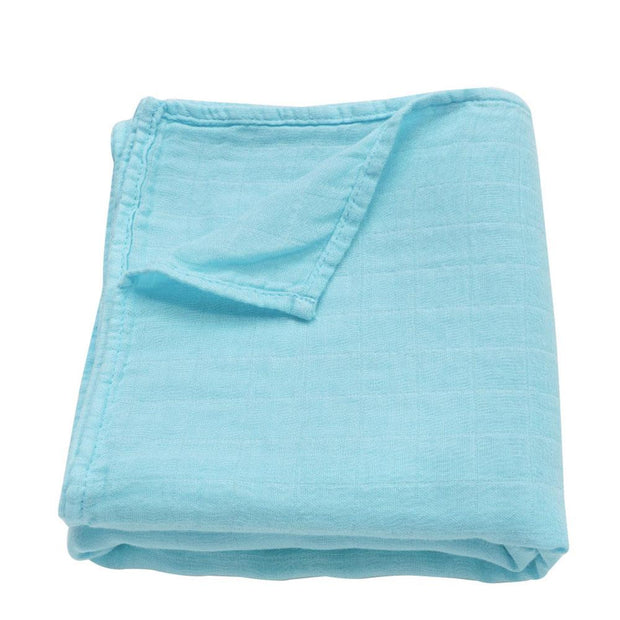 Muslin Swaddle Baby Blanket Extra Soft Bamboo & Cotton Aqua
